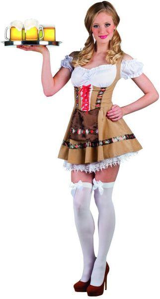 Oktoberfest Dirndl kleedje tirolermeisje Alpine