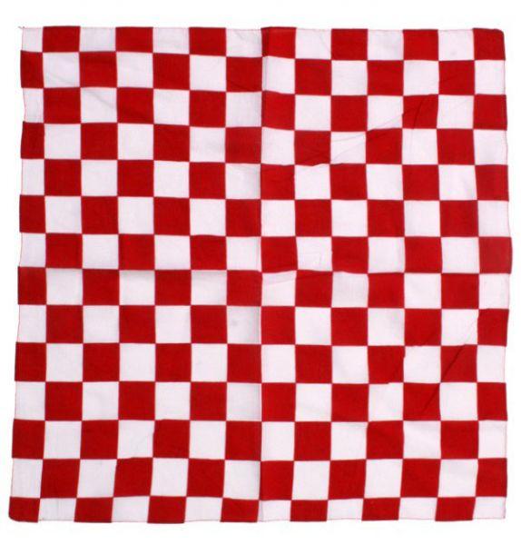 bandana zakdoek rood wit geblokt