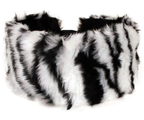 Hoofd- haarband zebra