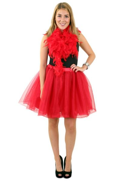Tule rock & roll kleedje rood