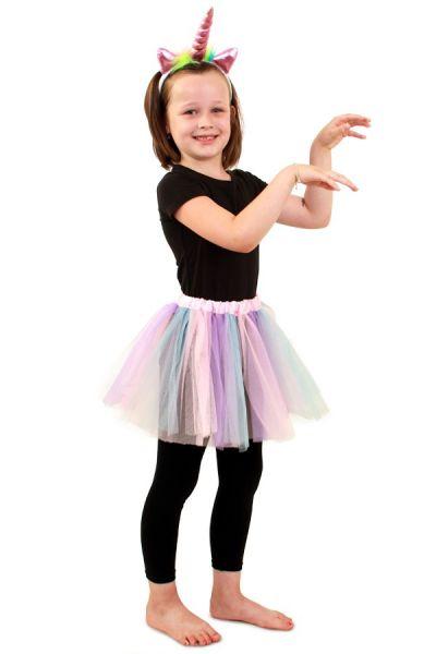 Tule kleedje pastel unicorn meisje