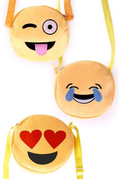 3 Emoticon Smiley Schoudertassen
