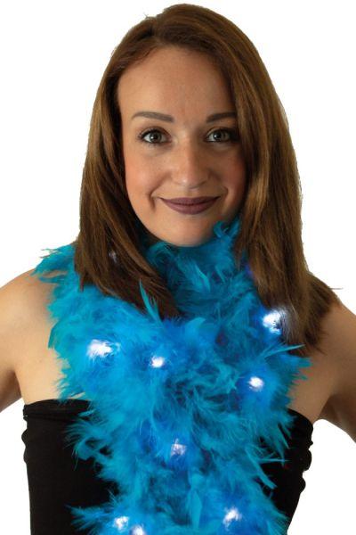Boa lichtblauw met lichtjes