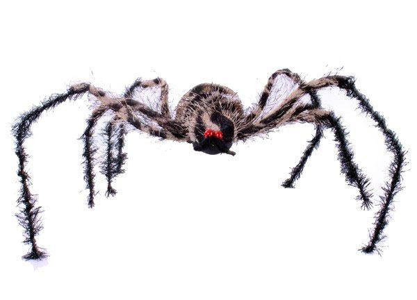 Halloween grote bruine spin met buigbare poten