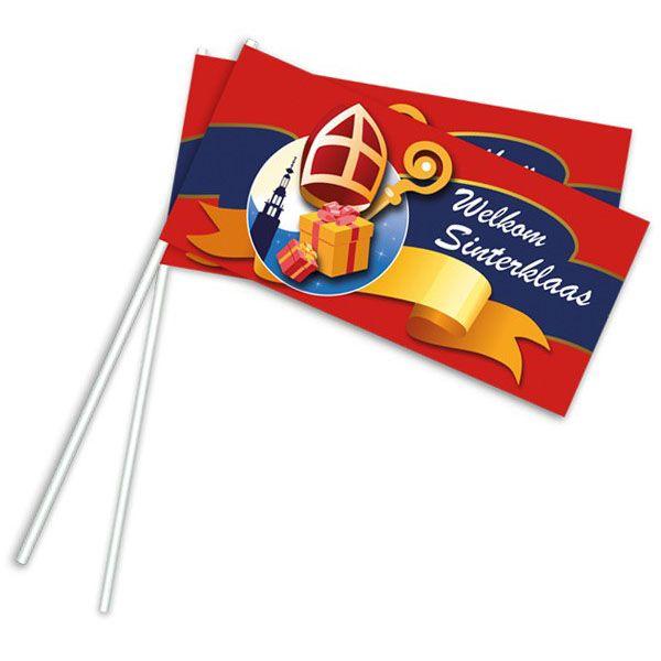 Zwaaivlaggetjes Sinterklaas 50 stuk