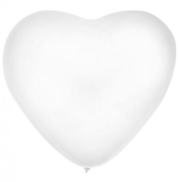 Hartje ballon wit 30cm
