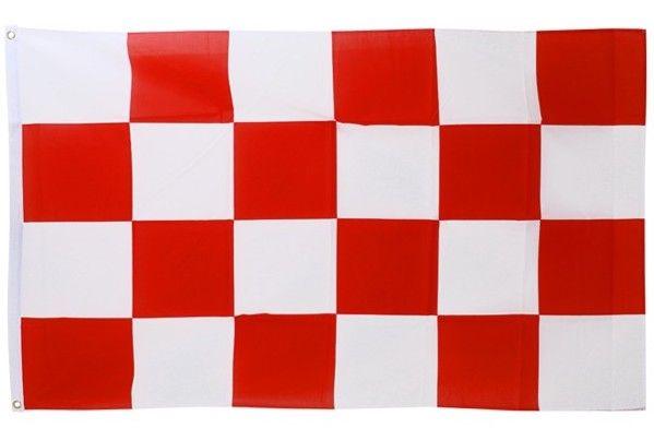 Vlag rood - wit geblokt