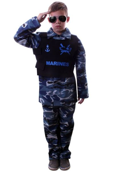 Stoere Marine camouflage outfit kind