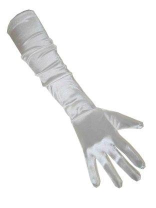 Witte satijnen handschoenen
