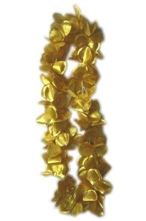 Hawaii halsketting goud slinger 12 stuks