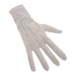 Witte Sinterklaas handschoenen katoen de luxe