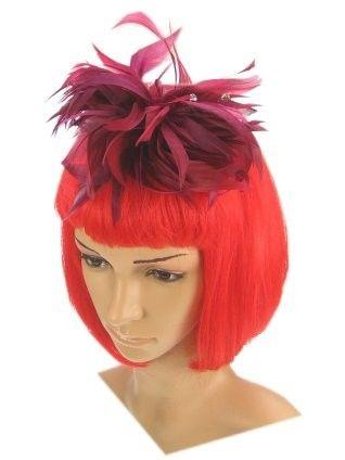 Haardecoratie op beugel bordeaux