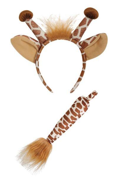 Giraf haarbeugel met staart