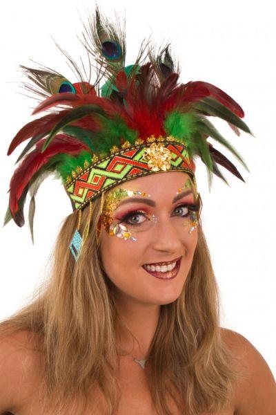 Indianen dans veren hoofdtooi Comanche