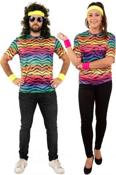 Hippie neon T-shirt tijgerprint