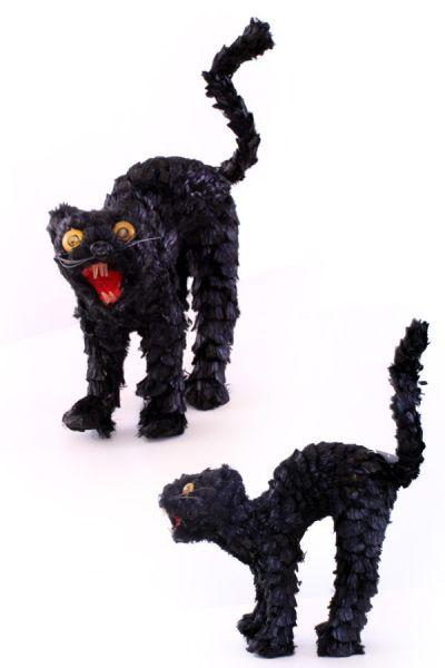 Horror kat met licht 22 x 23 cm