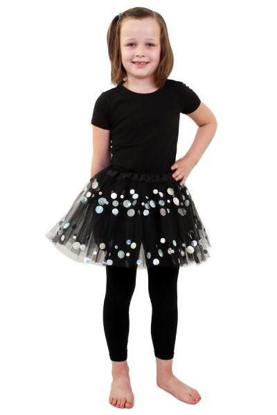 Tule kleedje zwart met dots meisjes