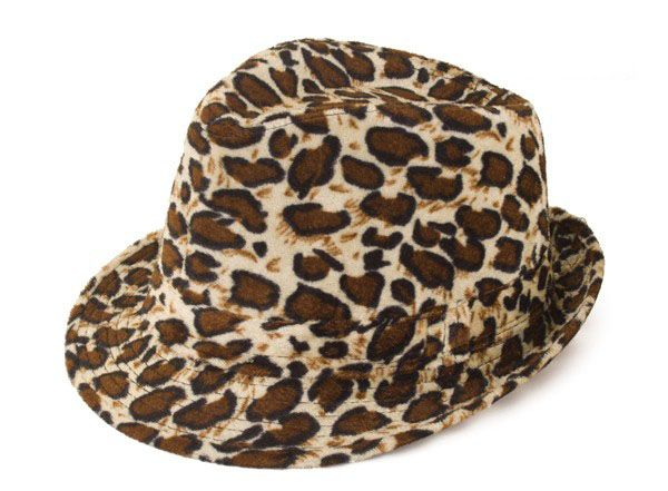 Gangster pimp panterprint hoed