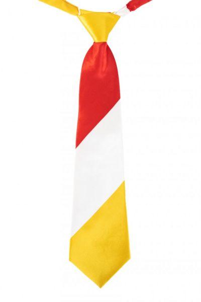 Stropdas rood wit geel gestreept