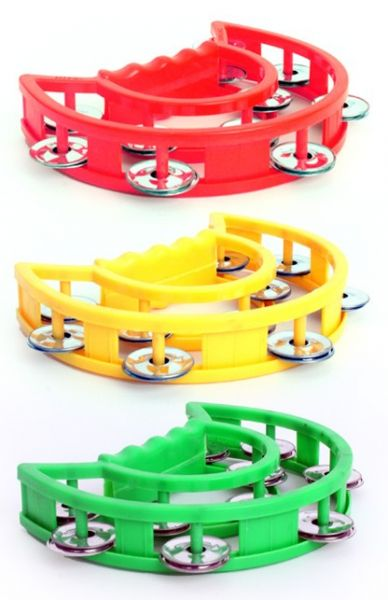 6 Tambourines red yellow green