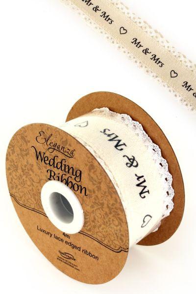 Eleganza huwelijk-lint cotton lace edge op rol