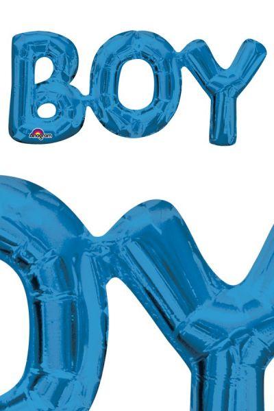 Folie ballon Boy blauw