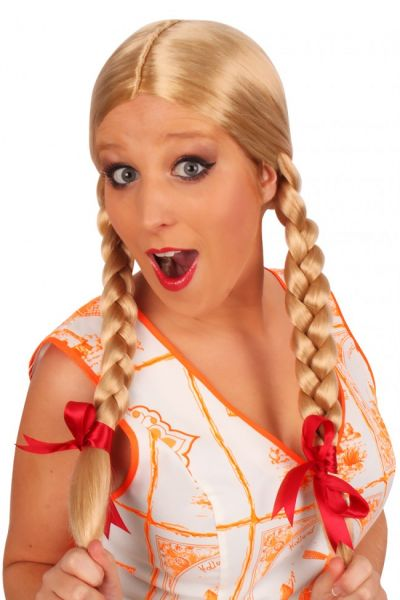 Oktoberfest Dirndl Pruik Greetje blond