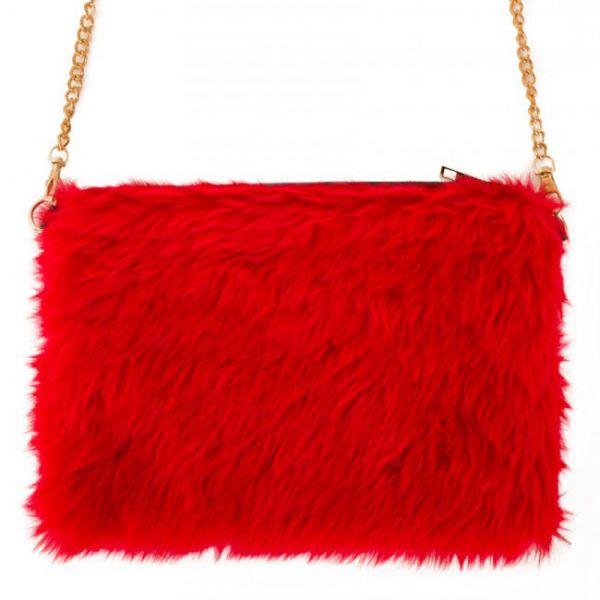 Tas rood bont plusche