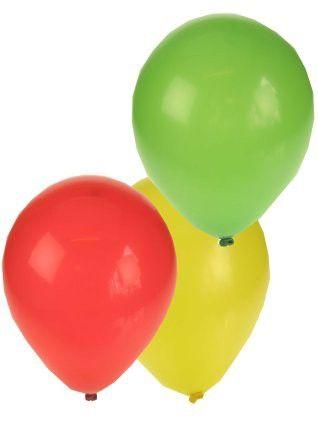 Carnavalsballonnen rood geel groen
