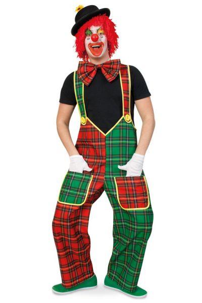 Tuinbroek clown rood groen