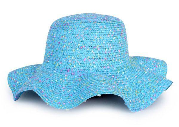 Strandhoed blauw dame