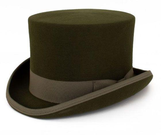 Groene cilinder hoed
