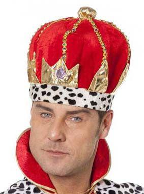 Rode stoffen Koningskroon