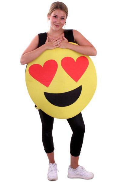 Emoticon Smiley hartjes ogen kostuum Imoji