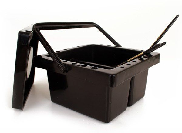Schminkpenselen reinigingsbakje zwart