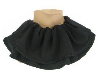 Trevira pieten kraag zwart