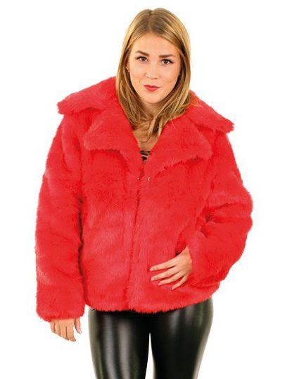 Dames Bontjas rood