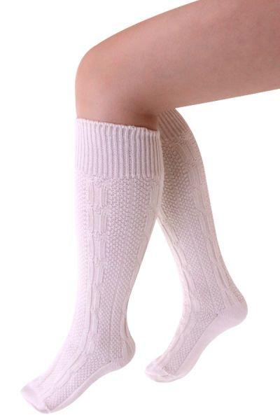 Oktoberfest Tiroler sokken kort luxe ecru