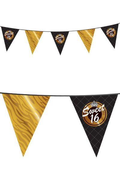 Gouden vlaggenlijn Sweet 16