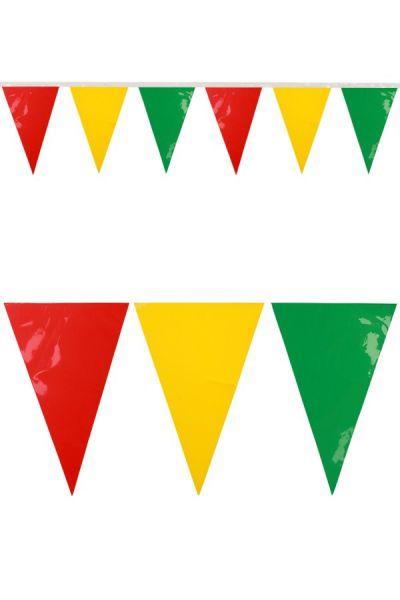 Mini vlaggenlijn rood geel groen carnaval brandveilig 24m