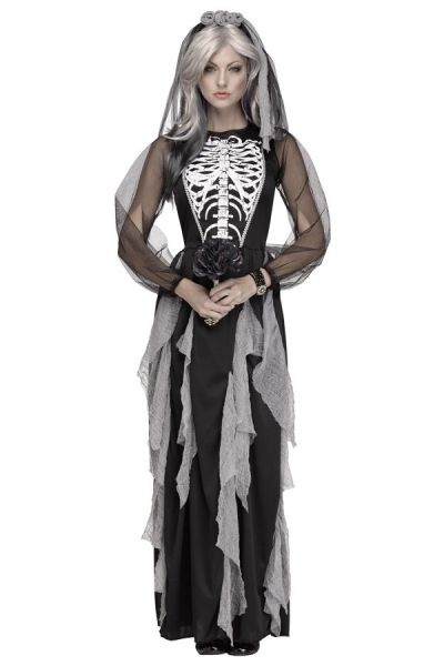 Halloween Skelet bruidskleedje