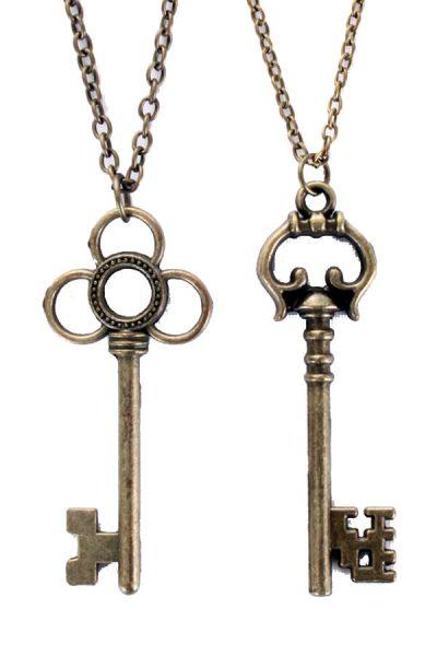 Steampunk ketting met 2 sleutels