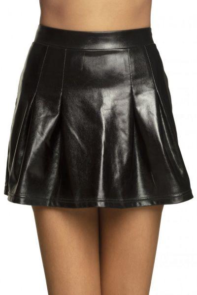 Mini kleedje glanzend zwart