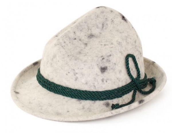 Oktoberfest Tiroler hoed wolvilt grijs luxe