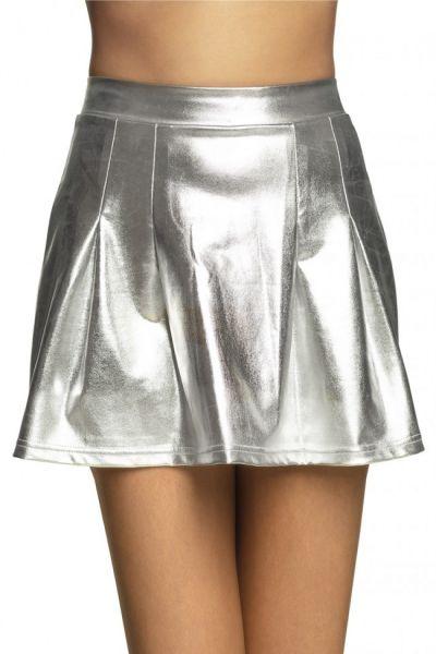 Mini kleedje glanzend zilver