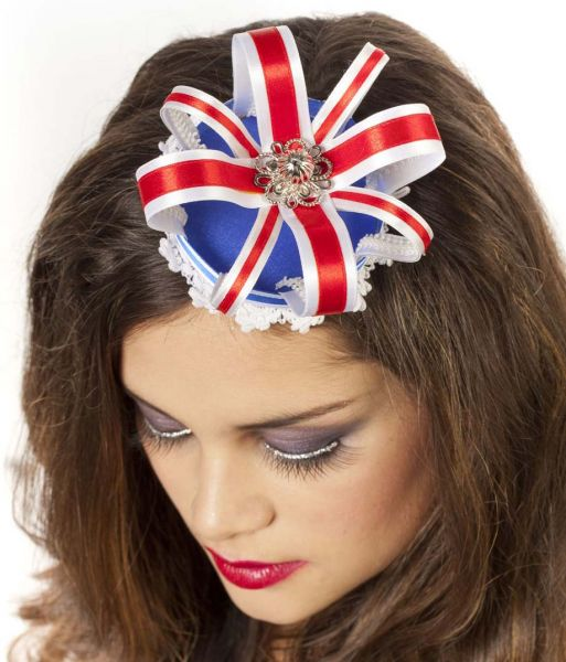 Kroon luxe met haarclip rood wit blauw