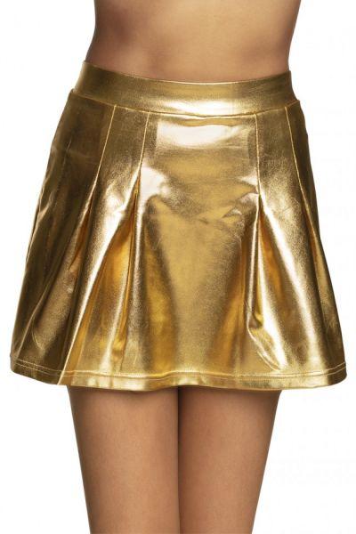 Mini kleedje glanzend goud