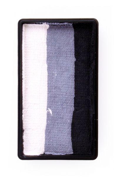 One Stroke splitcake kleuren zwart grijs wit schmink