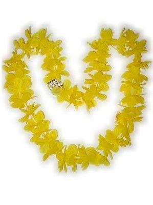 Hawaii halsketting geel slinger kransen 12 stuks