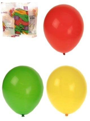 Heliumballonnen rood geel groen